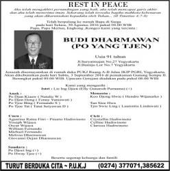 Rest in Peace - Budi Darmawan (Po Yang Tjen)