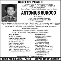 Rest in Peace - Antonius Sukoco