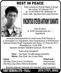 Rest in Peace - Vincentius Steven Atnthony Suwanto