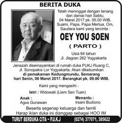 Berita Duka - Oey You Soen (Parto)