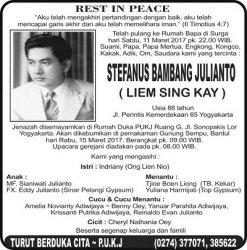 Rest in Peace - Stefanus Bambang Julianto - Liem Sing Kay