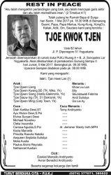 Rest in Peace - Tjoe Kwok Tjen
