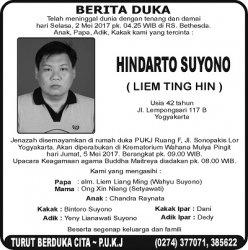 Berita Duka - Hindarto Suyono (Liem Ting Hin)