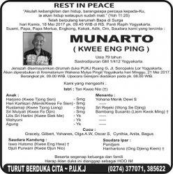 Rest in Peace - Munarto (Kwee Eng Ping)