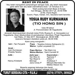 Rest in Peace - Yosua Rudy Kurniawan (Tio Hong Sin)