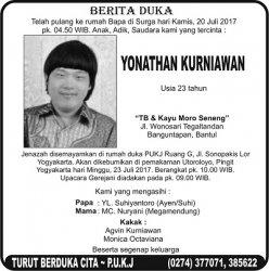 Berita Duka - Yonathan Kurniawan