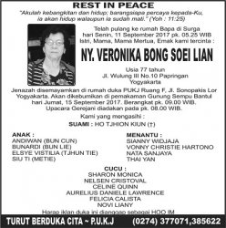 Rest in Peace -  Ny Veronika Bong Soei Lian