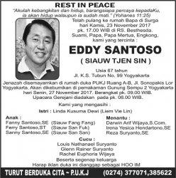 Rest in Peace - Eddy Santoso (Siauw Tjen Sin)