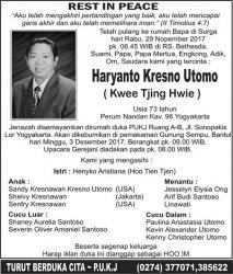 Rest In Peace - Kresno Utomo (Kwee Tjing Hwie)
