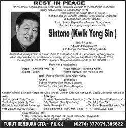 Rest in Peace - Sintono (Kwik Yong Sin)