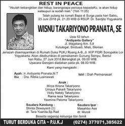 Rest in Peace - Wisnu Takariyono Pranata SE