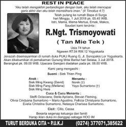 Rest in Peace - R.Ngt. Trismoyowati (Tan Mie Tek)