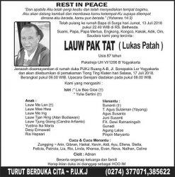 Rest in Peace - Lauw Pak Tat (Lukas Patah)