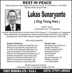 Rest In Peace - Lukas Sunaryanto (Ong Tiong Han)