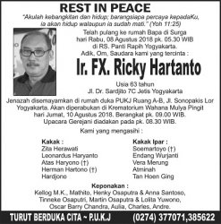 Rest In Peace - Ir FX Ricky Hartanto