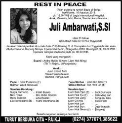 Rest in Peace - Juli Ambarwati SSI