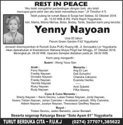 Rest in Peace - Yenny Nayoan