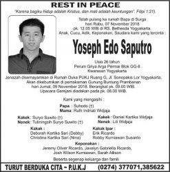 Rest in Peace - Yoseph Edo Saputro