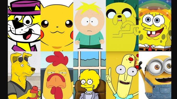 Tejawab, Ini Alasan Banyak Karakter Kartun Populer Berwarna Kuning, Ternyata Punya Makna Tersembunyi