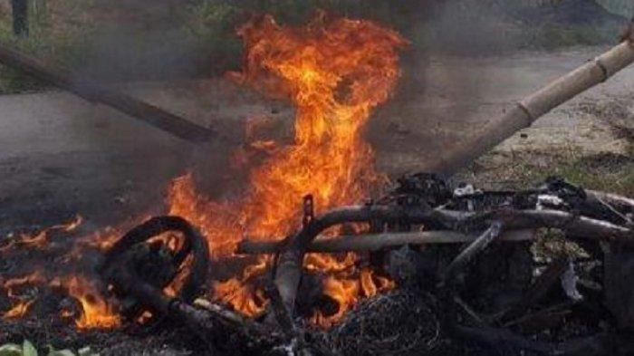Pilunya Pemotor di Sragen : Tewas Tabrak Pohon, Jasadnya Nyaris Terpanggang Kala Motornya Terbakar