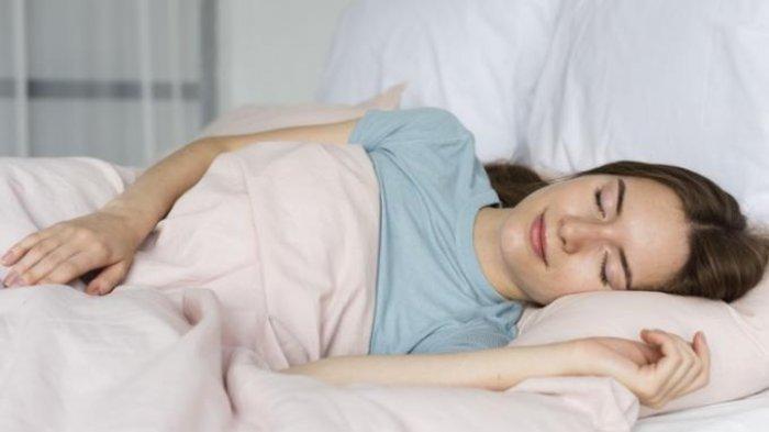 Ilustrasi wanita tidur nyenyak