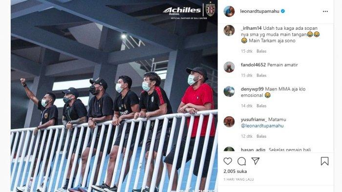 Instagram Leonard Tupamahu yang dibanjiri komentar pedas netizen