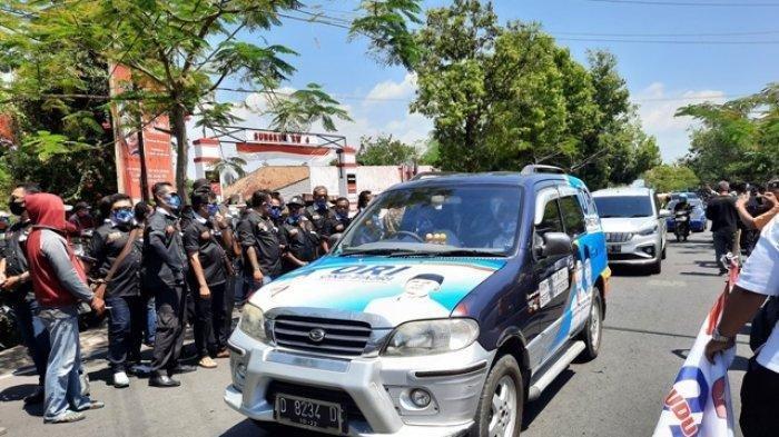 One Krisnata Minta Maaf Massa Pendukungnya Sempat Bikin Macet saat Pendaftaran di KPU Klaten