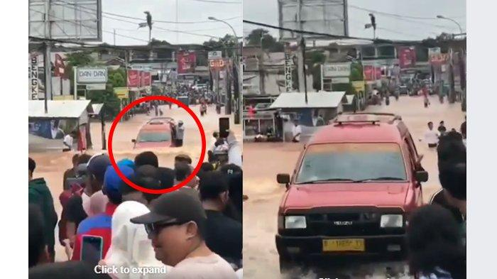 Beredar Video Viral Angkot Isuzu Panther 'Ajaib' Taklukkan Banjir Bekasi, Ini Penjelasan Ilmiahnya