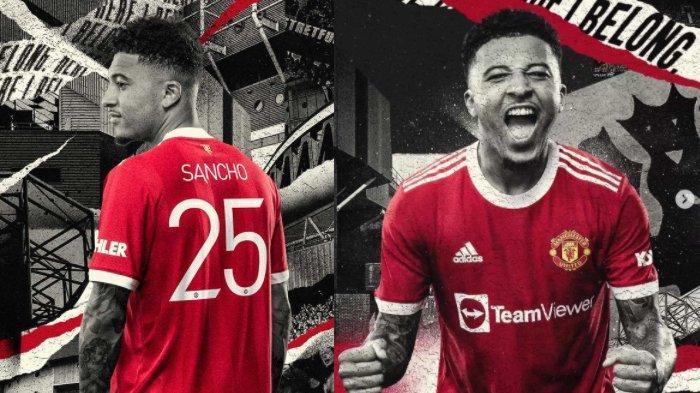 Resmi, Inilah Nomor Punggung Jadon Sancho di Manchester United, Bukan Nomor 16 atau 7