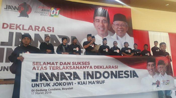 Deklarasi Dukung Jokowi-Ma'ruf pada Pilpres 2019, Jawi Sebut Paslon Nomor Urut 01 Pasangan Ideal