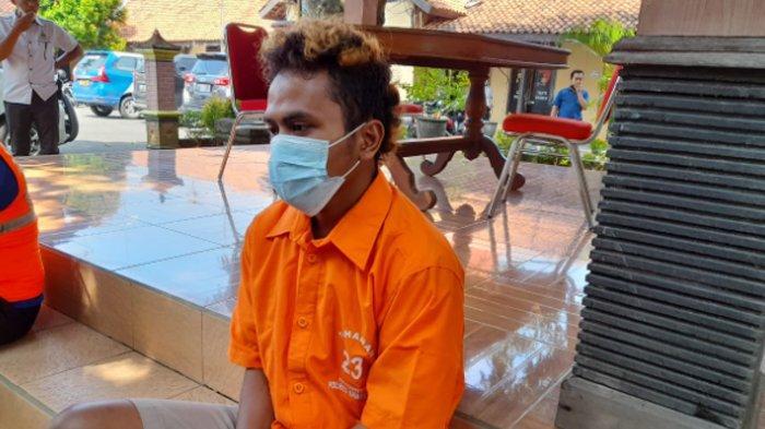 ES alias Jeger, tersangka pembunuh Sartikawati, yang jasadnya ditemukan di Waduk Kembangan, Sragen.