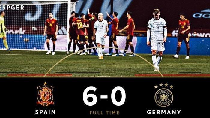 Sederet Fakta Kekalahan Jerman 0-6 dari Spanyol : Bukan Kali Pertama Jerman Kalah dengan Skor 0-6