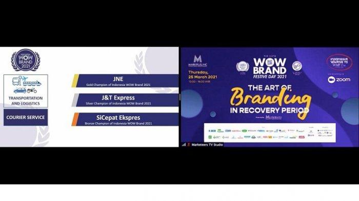 JNE Berhasil Meraih Gold Champion of Indonesia di Gelaran WOW Brand Festive Day 2021