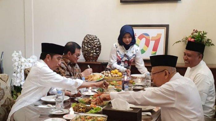Jokowi Santap Siang di Kediaman Ma'ruf Amin