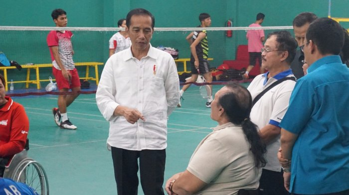 Ekspresi Gembira Para Atlet saat Jokowi Kunjungi Pelatnas Asian Para Games 2018 di Sukoharjo