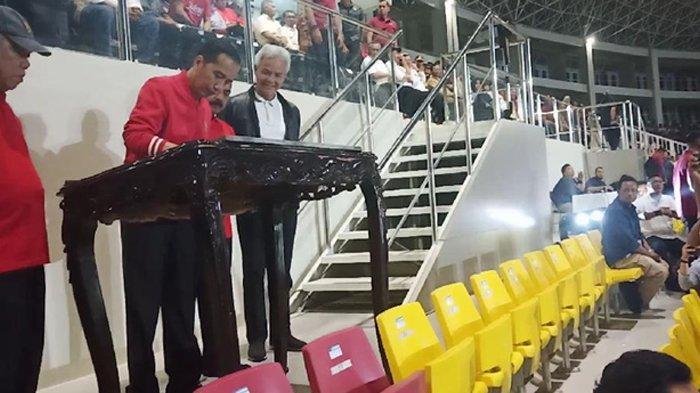 Ajak Jan Ethes, Jokowi Resmikan Stadion Manahan Pasca Renovasi Rp 301 Miliar