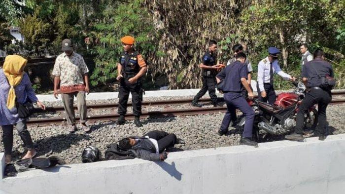 Saiman Tetap Selamat Meski Tertabrak & Terseret KA Railbus Batara Kresna hingga 5 Meter di Sukoharjo
