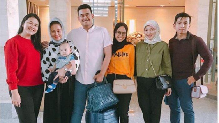 Senyum Bahagia Kahiyang-Bobby Lepas Keluarga Pulang ke Medan
