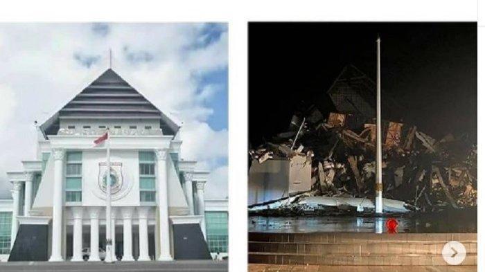 Kantor Gubernur Sulbar Ambruk Dampak Gempa Susulan 6,2 SR di Majene, Ratusan Warga Pilih Mengungsi