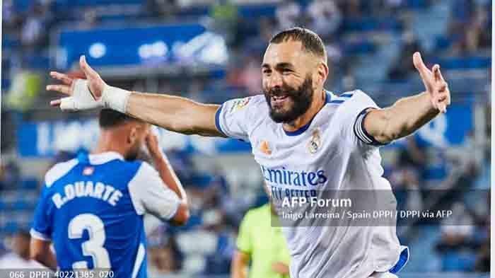 Top Skor La Liga : Karim Benzema Koleksi 5 Gol, Dibuntuti Vinicius Jr dan Mikel Oyarzabal