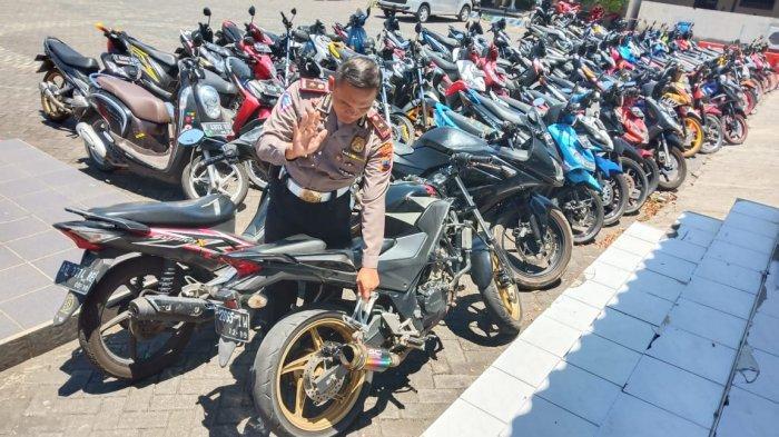 Ratusan Motor Berknalpot Brong Disita Polresta Solo, Bisa Diambil dengan Syarat Khusus