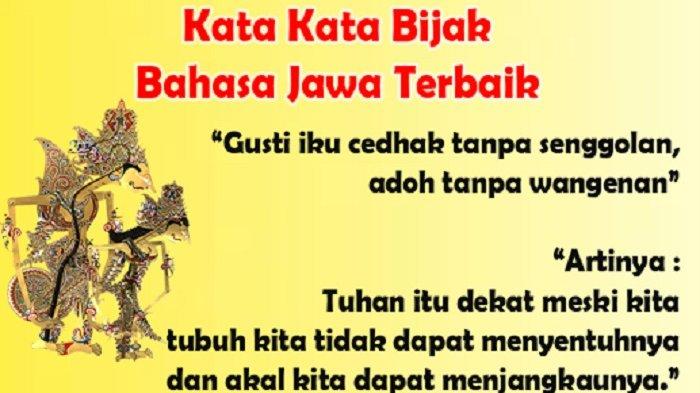 Kumpulan Kata Kata Mutiara Dalam Bahasa Jawa Tentang Kehidupan Dan Artinya Cocok Jadi Story Di Ig Tribun Solo