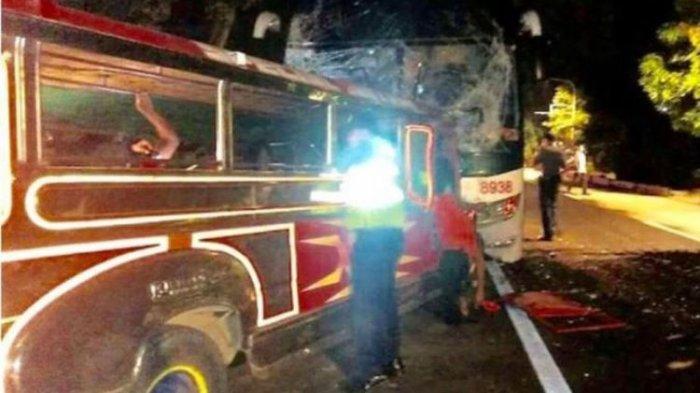 20 Orang Tewas Akibat Bus Peziarah yang Alami Tabrakan di Filipina
