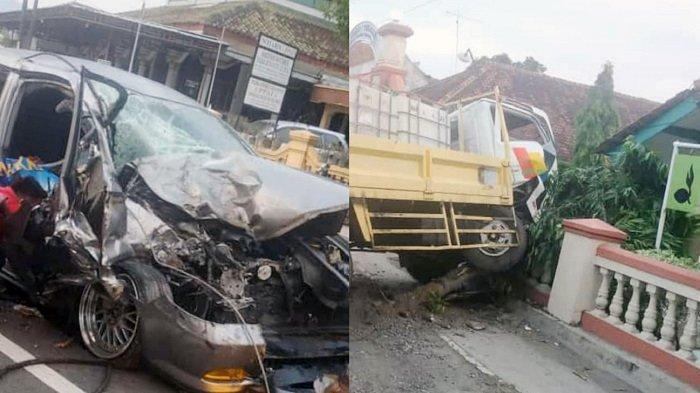 BREAKING NEWS : Kecelakaan Mobil Vs Truk di Selogiri, Sedan Remuk, Dikabarkan 1 Orang Meninggal