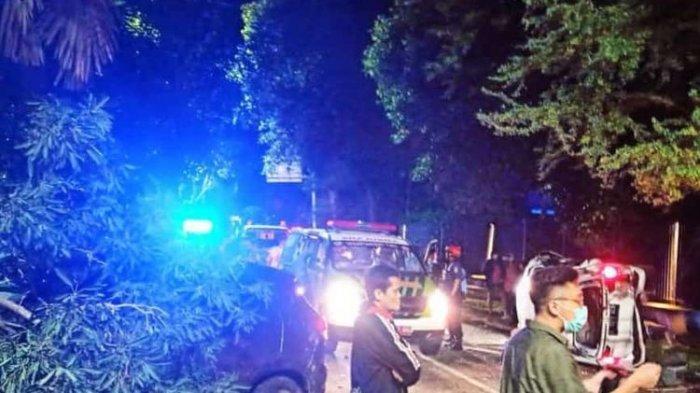 Dua Mobil Terlibat Kecelakaan di Depan Hotel Bima Sena, Jakarta, Satu Tewas, Dua Dalam Perawatan