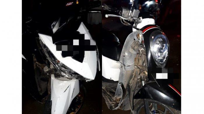 Ada ABG Tiba-tiba Belok Tak Pakai Sein, Pemuda di Belakangnya Terkapar di Aspal, Motor Rusak Parah