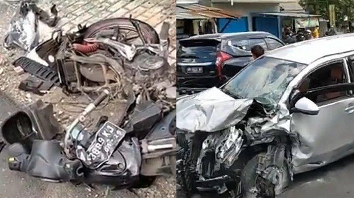 Kecelakaan Maut di Prambanan Klaten : Avanza Silver Hantam Pemotor, Sempat Terseret Beberapa Meter