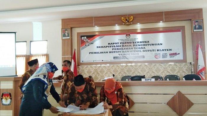Pleno KPU Klaten Kelar : Sri Mulyani Menang, One & ABY Diberi Waktu 3x24 Jam, Ada Gugatan atau Tidak