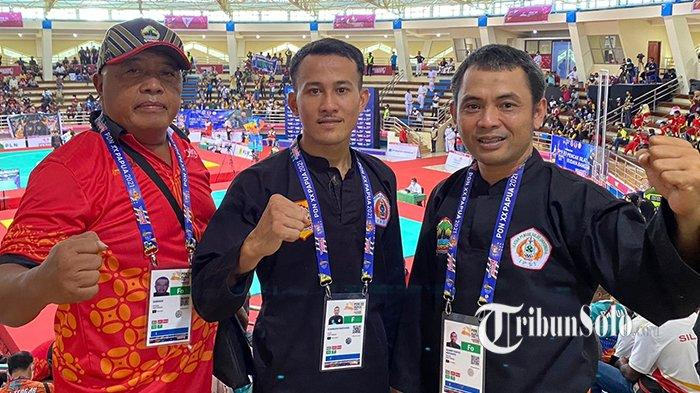 Atlet Silat Asal Klaten Khoirudin Mustakim Menyabet Medali Emas PON XX Papua
