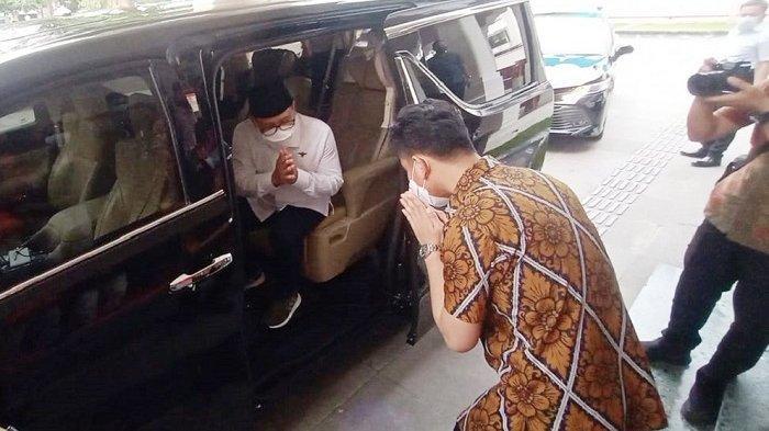 Ketua Umum PKB Cak Imin saat bertemu dengan Gibran Rakabuming Raka di Rumah Dinas Wali Kota Solo, Lodji Gandrung, Rabu (24/3/2021).